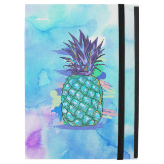 Cool Pineapple Colorful Watercolors Illustration
