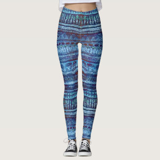 Cool Pineapple Tribal Pattern Leggings