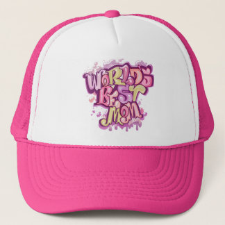 Cool pink best mom trucker hat