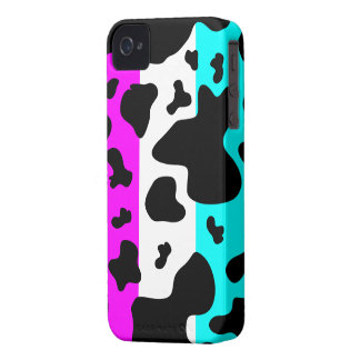 Cool Pink/Blue/White Cow Print - iPhone 4/4s Case