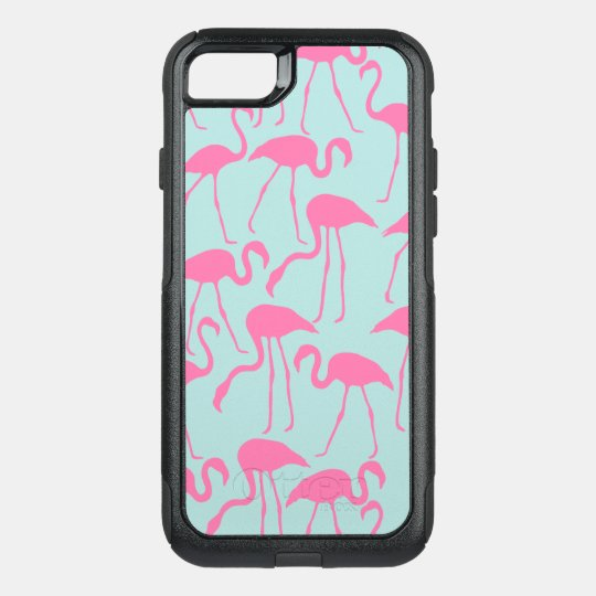 Cool Pink Flamingo Pattern OtterBox Commuter iPhone 7 Case