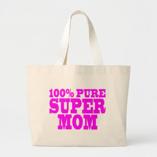 Cool Pink Gifts for Moms : Super Mom Jumbo Tote Bag