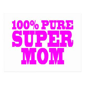 Cool Pink Gifts for Moms : Super Mom Postcards