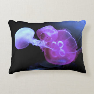 Cool Pink Jelly Fish up Close Accent Pillow