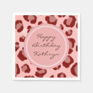 Cool Pink Leopard Paper Napkin
