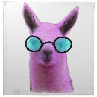 Cool Pink Llama! Napkin