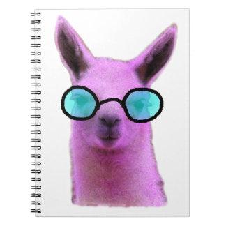 Cool Pink Llama! Note Books