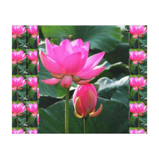 COOL  Pink LOTUS and BUD Canvas Prints