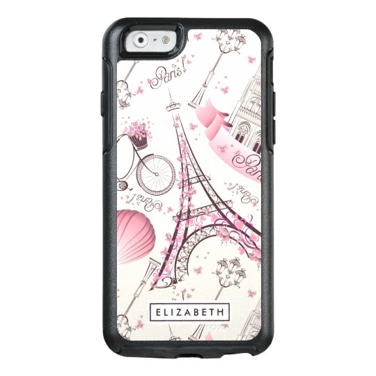Cool Pink Paris Eiffel Tower Modern OtterBox Case