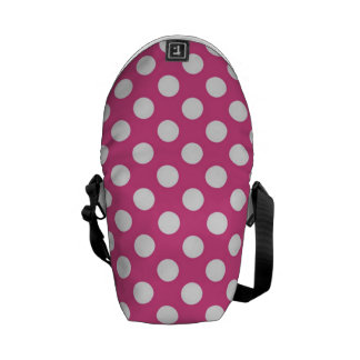 Cool Pink Polka Dot Pattern Courier Bags