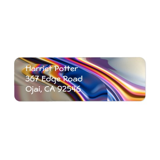 Cool Pink Purple Abstract Fractal Art Return Address Label