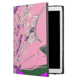 "Cool pink purple lovely pattern design monogram iPad pro 12.9"" case"
