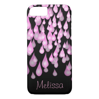 Cool Pink Rain | Personalized iPhone 8/7 Case