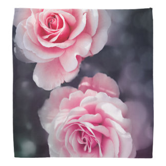 Cool Pink Roses Photo  Floral Design Bandana