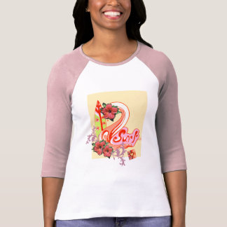 Cool Pink Surfing T shirt for women
