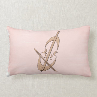 Cool Pink Watercolor Cello Music Pillow