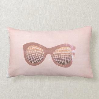 Cool Pink Watercolor Shades  Pillow