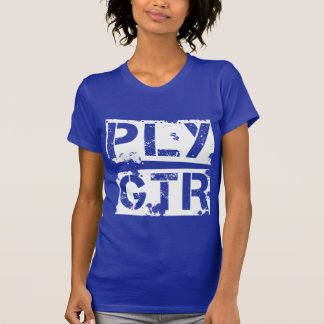 Cool Play Guitar Grunge Distressed PLY GTR T-Shirt