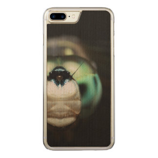Cool Playful Peekaboo Garden Dragonfly Artisan Carved iPhone 8 Plus/7 Plus Case