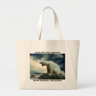 cool POLAR BEAR AND GLOBAL WARMING designs Jumbo Tote Bag