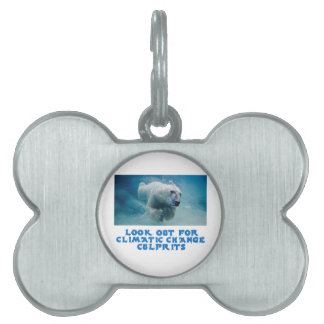 cool Polar Bear designs Pet ID Tag