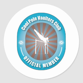 Cool Pole Vaulters Club Classic Round Sticker