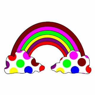 Cool Polka Dot Rainbow Ornament Photo Cut Outs