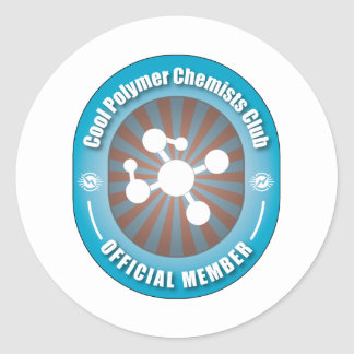 Cool Polymer Chemists Club Classic Round Sticker