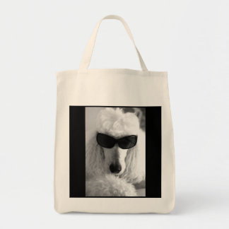 Cool Poodle Grocery Bag