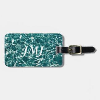 Cool Pool Waves Luggage Tag