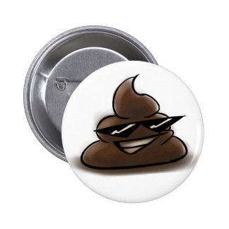 Cool Poop Face 2 Inch Round Button