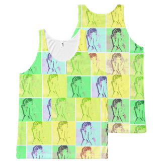 Cool Pop Art Pinup All-Over-Print Tank Top