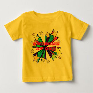 Cool Pop Art Stars Design Baby T-Shirt