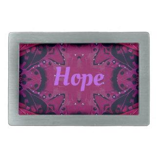 Cool Pop Magenta Lavender 'Hope'  Artistic Design Belt Buckles