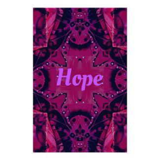 Cool Pop Magenta Lavender 'Hope'  Artistic Design Stationery