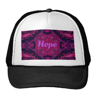 Cool Pop Magenta Lavender 'Hope'  Artistic Design Trucker Hat