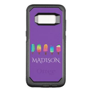Cool Popsicles Trendy Purple Custom School OtterBox Commuter Samsung Galaxy S8 Case