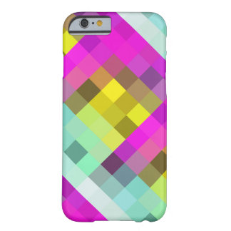Cool & Popular Neon Colored Mosaic Pattern Barely There iPhone 6 Case
