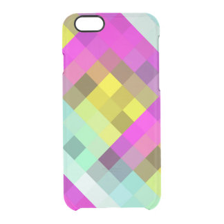 Cool & Popular Neon Colored Mosaic Pattern Clear iPhone 6/6S Case