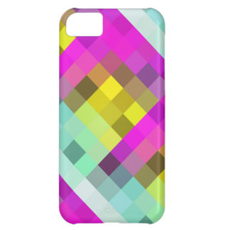 Cool & Popular Neon Colored Mosaic Pattern iPhone 5C Case