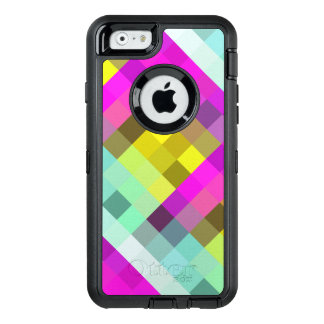 Cool & Popular Neon Colored Mosaic Pattern OtterBox Defender iPhone Case