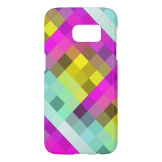 Cool & Popular Neon Colored Mosaic Pattern Samsung Galaxy S7 Case
