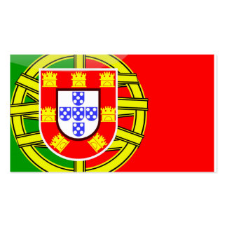 Cool Portugal Flag colourful Country Nationality f Business Card