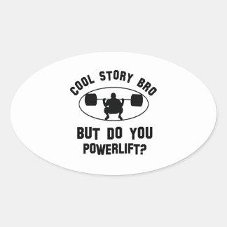 cool powerlift designs oval sticker