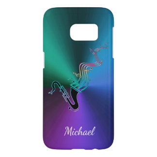 Cool Psychedelic Saxophone Personalized Music Samsung Galaxy S7 Case