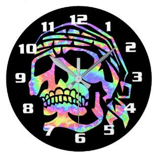 Cool Psychedelic skull Wall Clocks