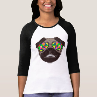 Cool Pug with Psychedelic Sunglasses T-shirts