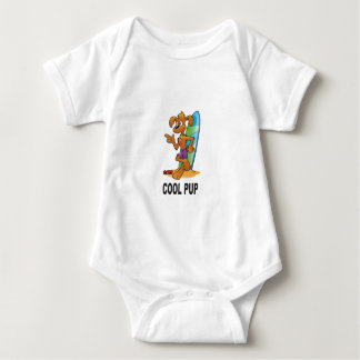 cool pup at beach baby bodysuit