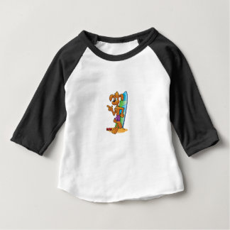 cool pup with board baby T-Shirt