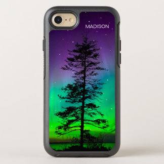 Cool Purple Blue Galaxy Stars Redwood Tree OtterBox Symmetry iPhone 7 Case